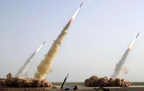 Raketenstart Iran Original