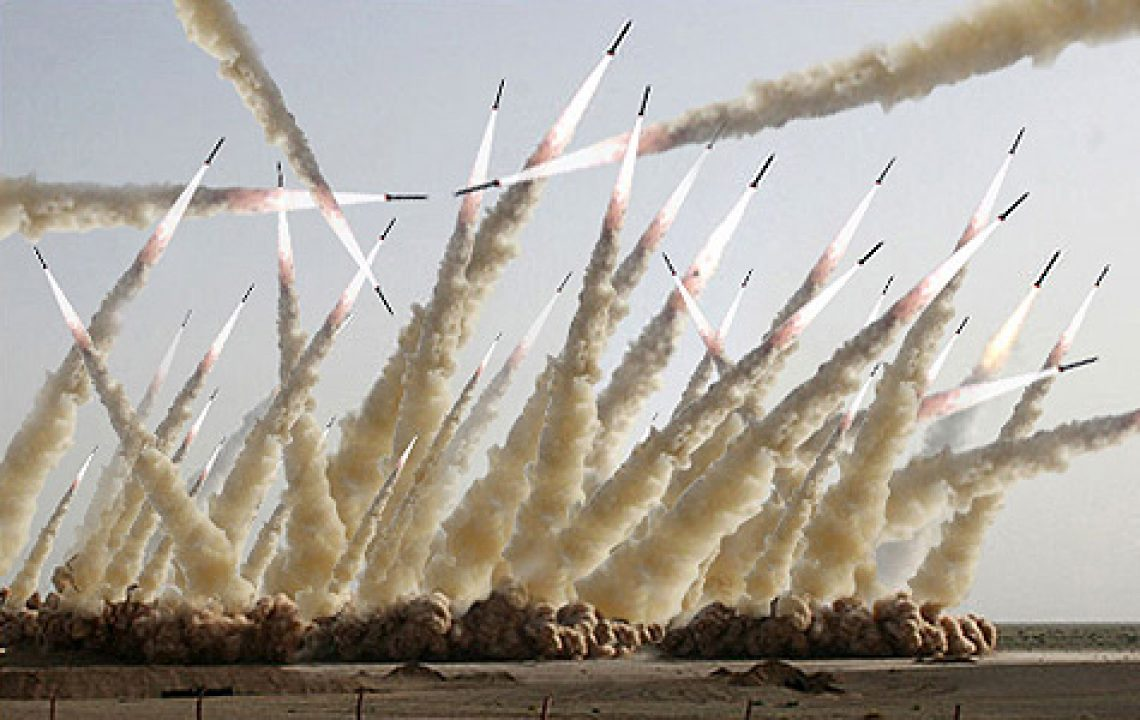 Raketenstart Iran persifliert