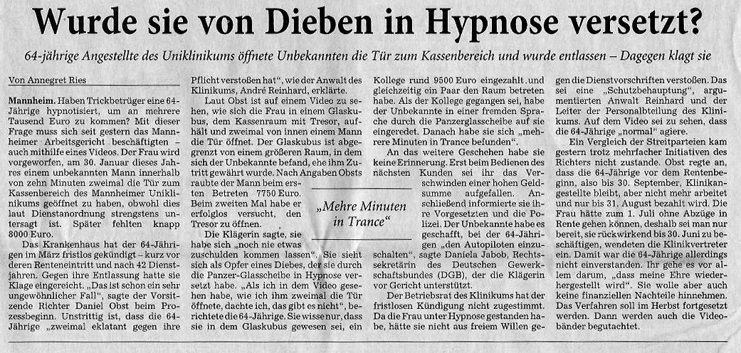 Rhein Neckar Zeitung vom 04.07.14